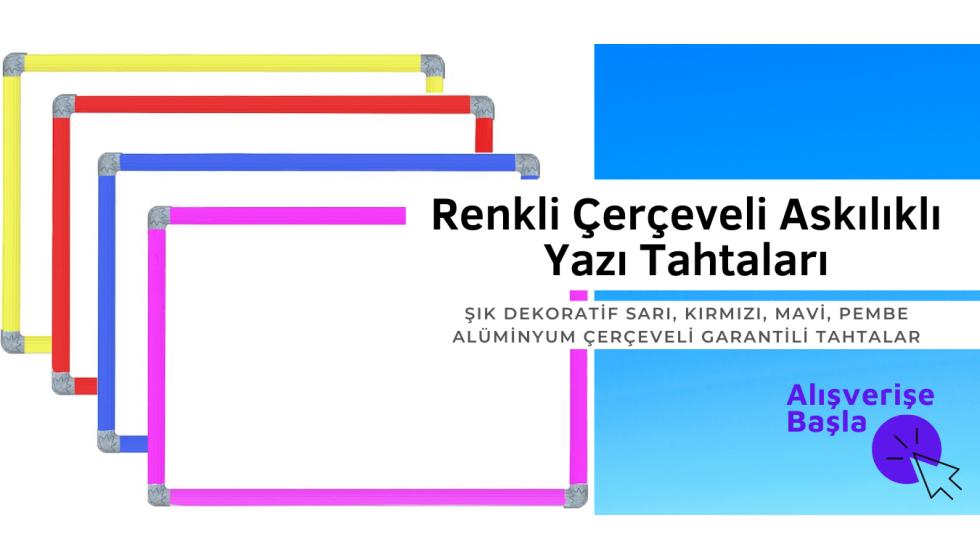 Renkli Çerçeveli Yazı Tahtaları